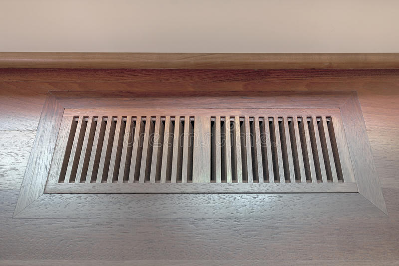 Wood Floor Vent Cover. For home heating and cooling system stock images