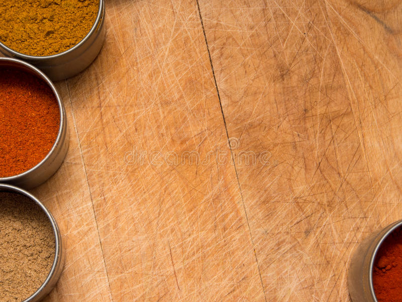 Download Wood Background With Spices Stock Image - Image: 30105183