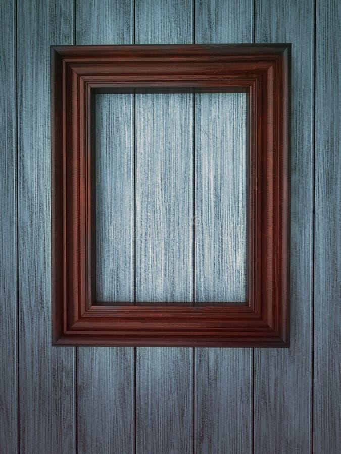 Free Wood Frame On Paneling Royalty Free Stock Image - 21167696