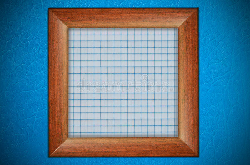 Wood Frame With Paper Stock Photos