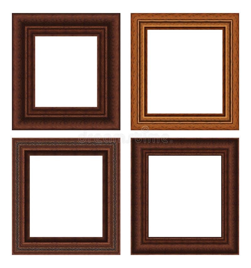 Wood frame set royalty free stock photos