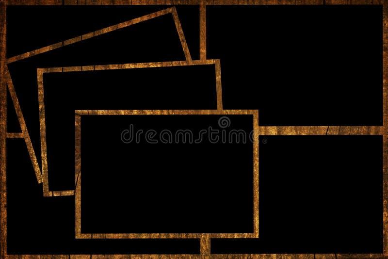Wood frames stock image