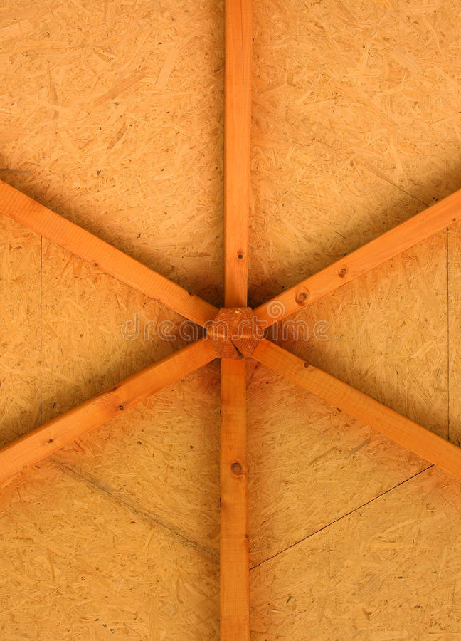 Wood gazebo roof detail stock images