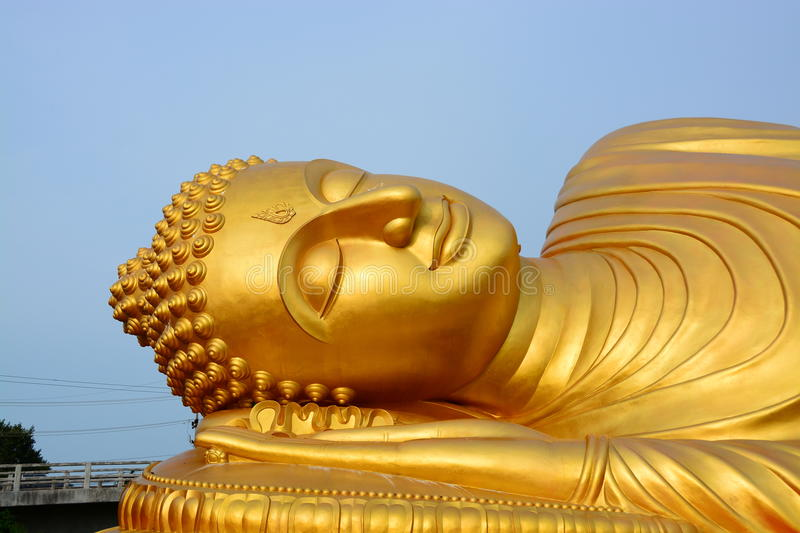 Buddha gold in thailand stock image