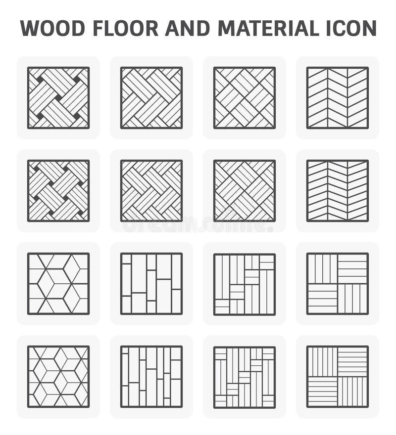 Wood golvsymbol stock illustrationer