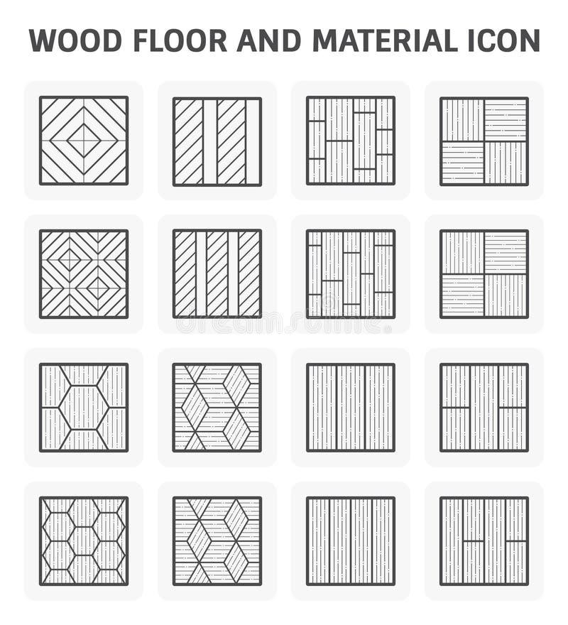 Wood golvsymbol royaltyfri illustrationer