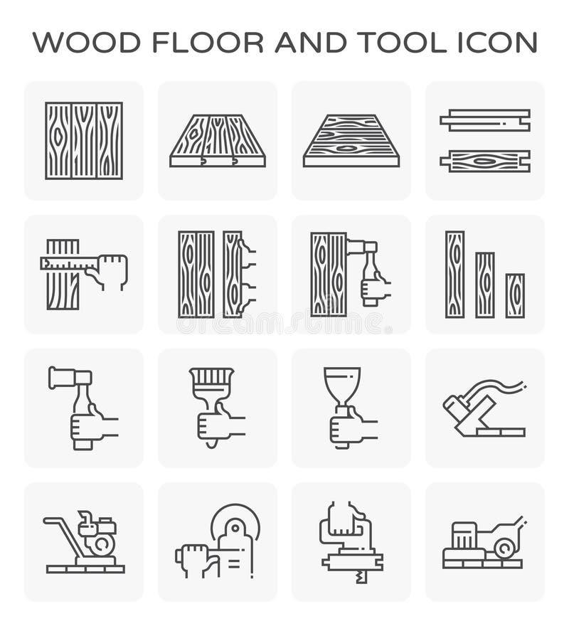 Wood golvsymbol vektor illustrationer