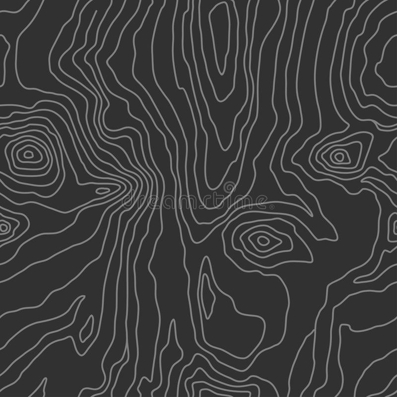 Wood grain black texture. Seamless wooden pattern. Abstract line background. Vector vector illustration