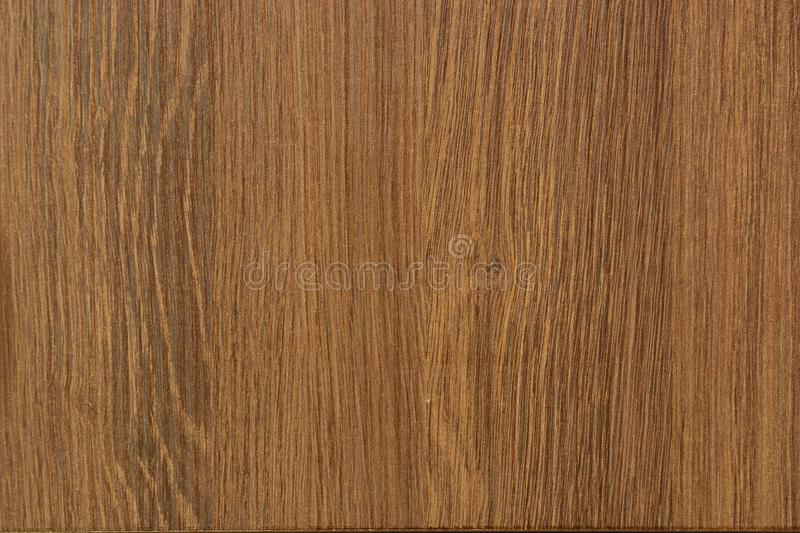 Wood Grain Texture. Of Melamine Laminated Plywood Board. Walnut Color royalty free stock image