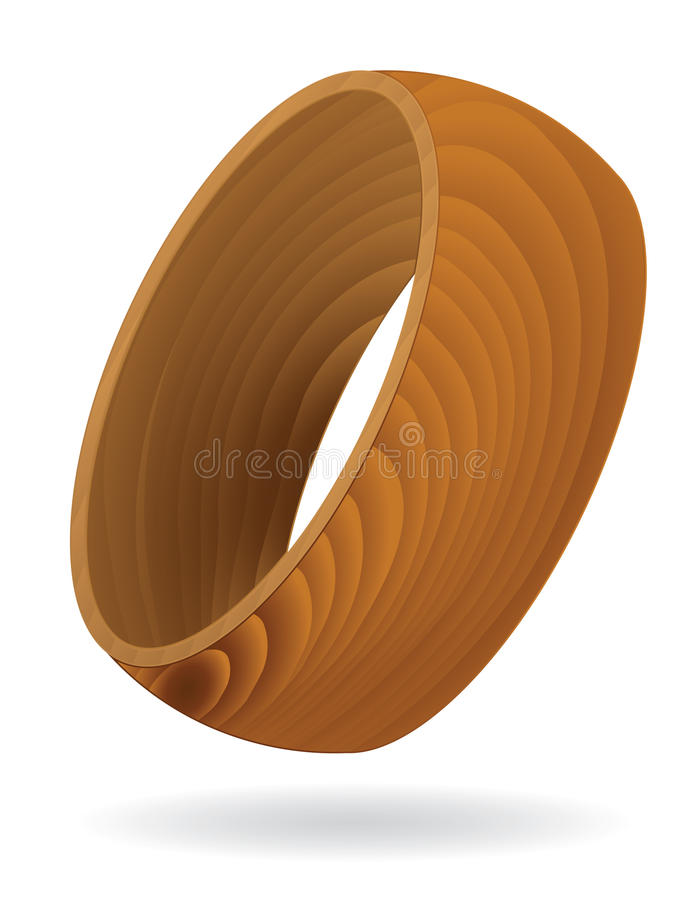 Download Wood grain textured Ring stock vector. Image of structure - 19023035