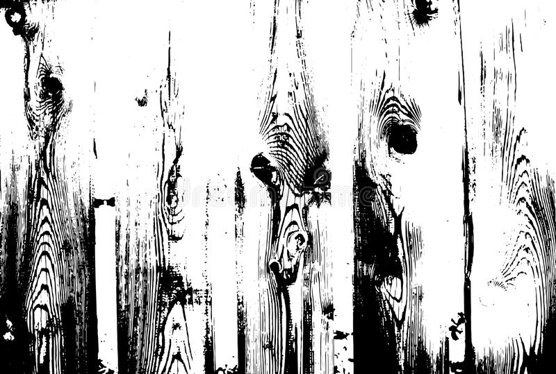 Wood grunge texture. Natural wooden isolated background. Vector illustration. stock illustration