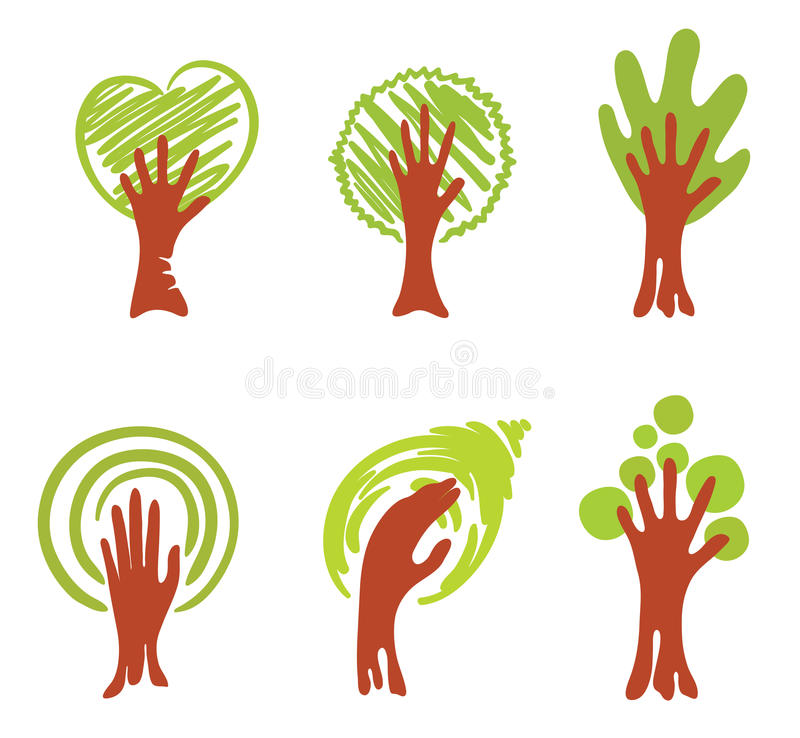 Download Wood-hand stock vector. Image of recycling, graphic, symbol - 15608062