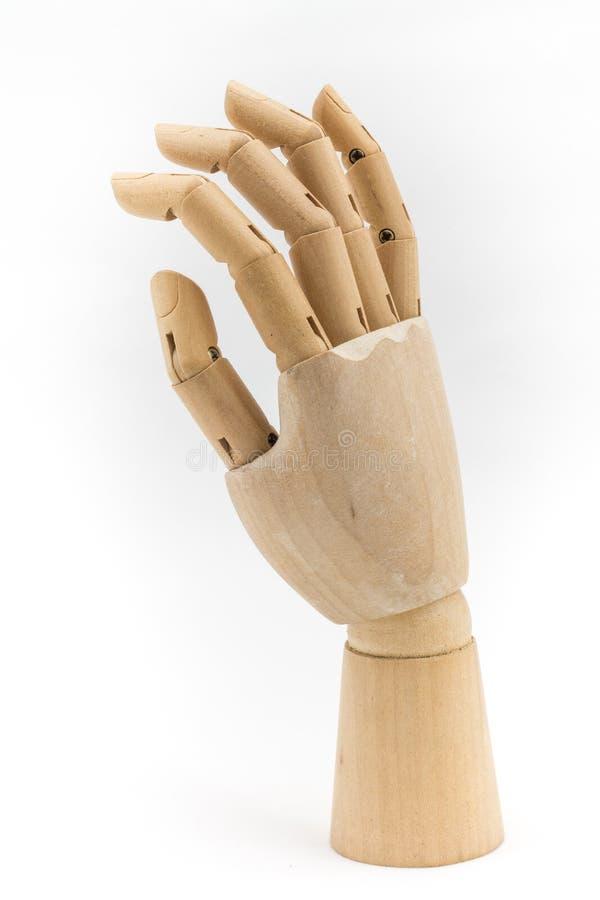 Wood hand act05 arkivbild