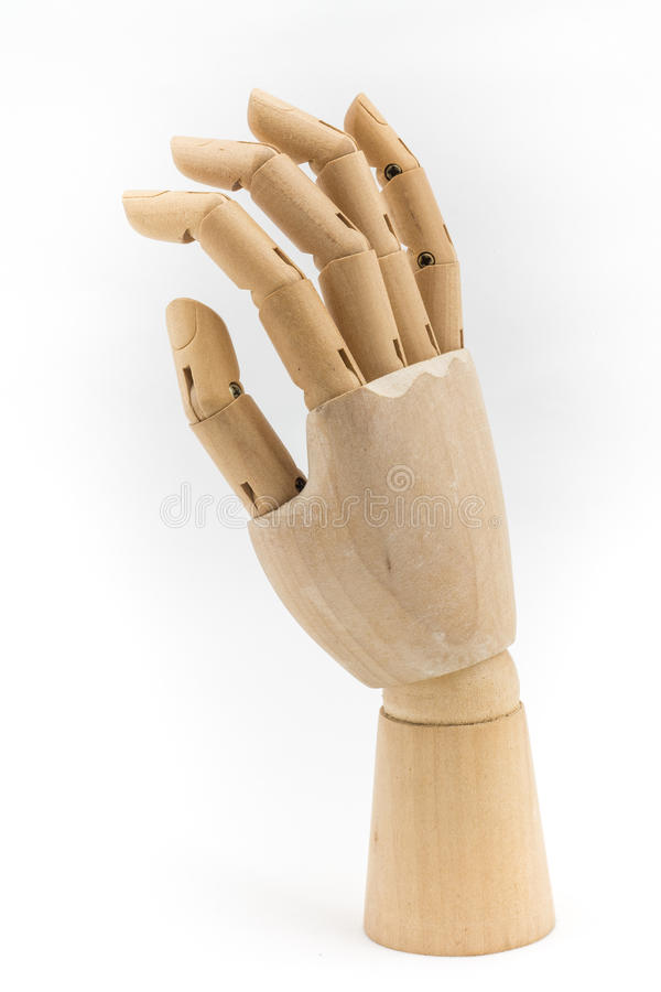 Wood hand act05 stock photography