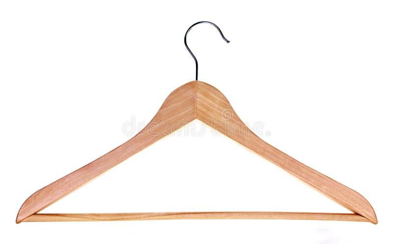 Wood hanger stock photo