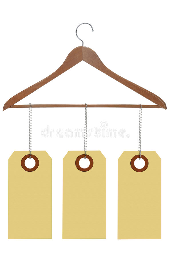 Download Wood hanger with labels stock image. Image of organize - 8477721