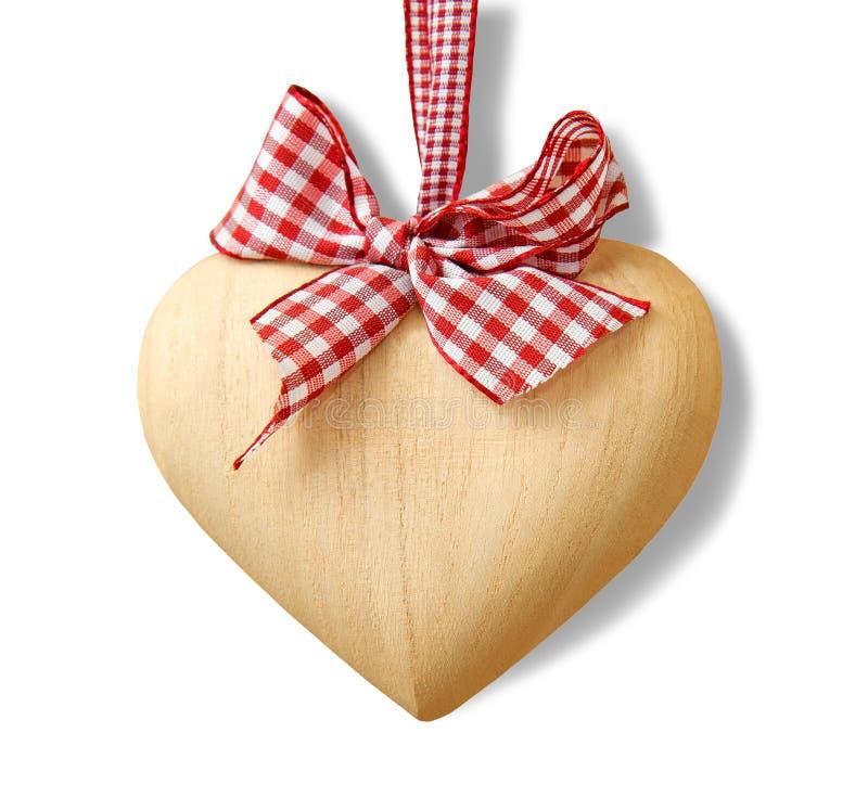 Wood heart stock image