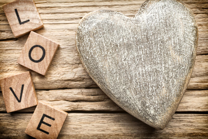 Wood heart. stock photos