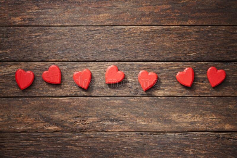 Wood Love Hearts Background Stock Photo