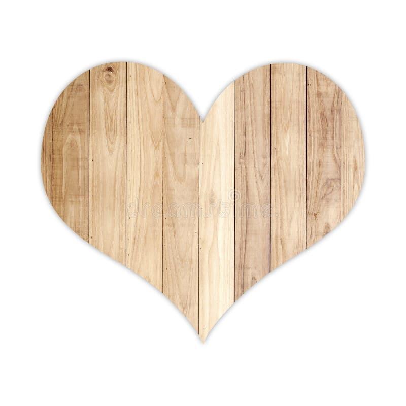 Wood hjärtaform royaltyfria foton