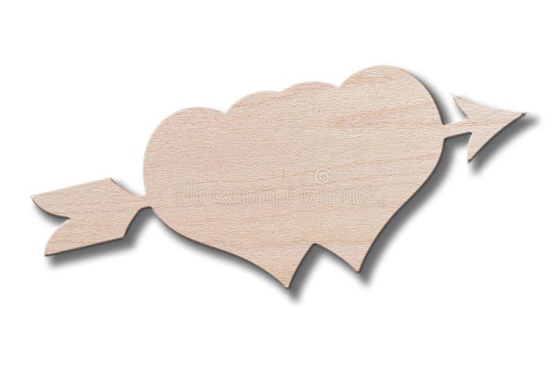 wood hjärtor royaltyfri bild