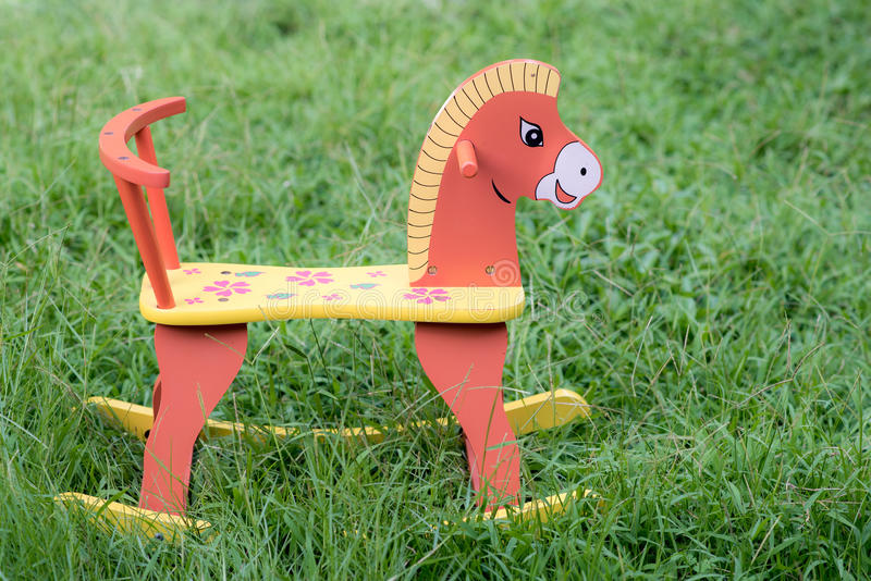 Wood horse royalty free stock photography