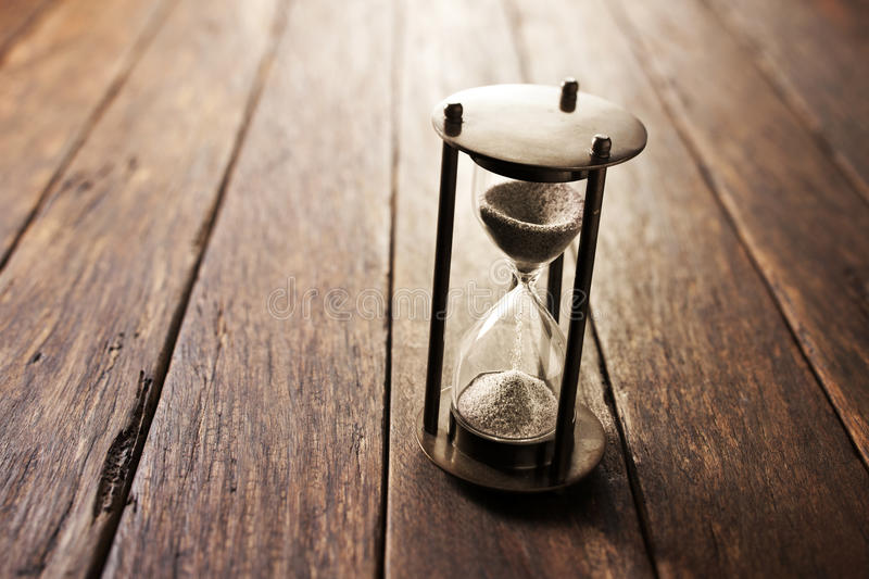 Wood Hourglass Time Background royalty free stock photos