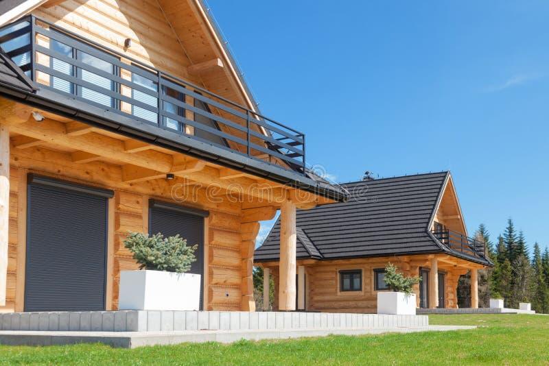 Wood house neighborhood. Home wood.  royalty free stock photos