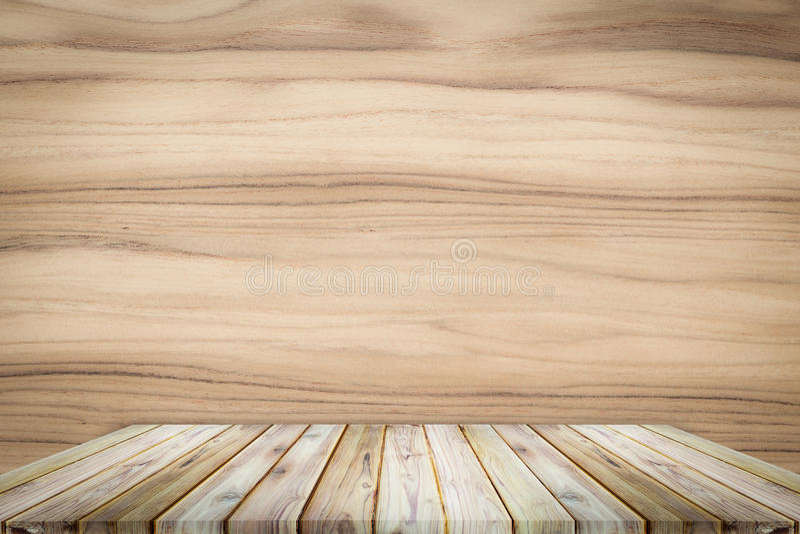 Wood hylla för teakträ på teakträtexturbakgrund arkivbilder