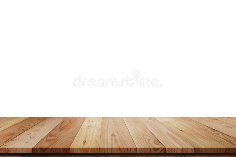 Wood isolerad hyllatabell royaltyfria bilder