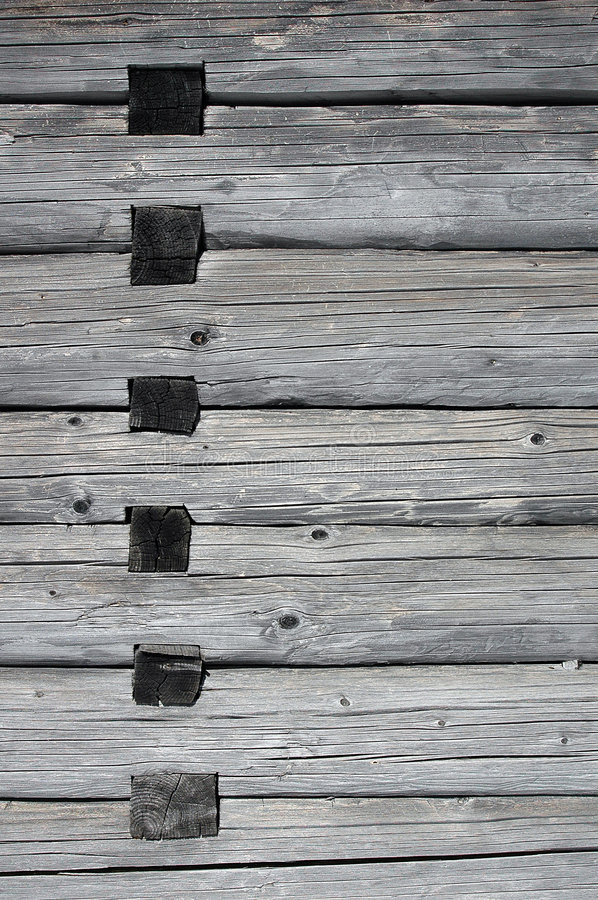 Wood joints in a house royalty free stock photography