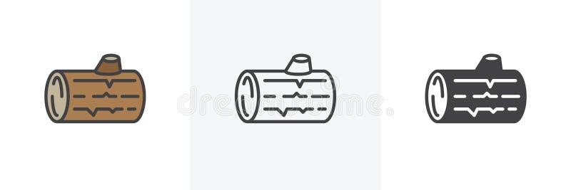 Wood journalsymbol vektor illustrationer