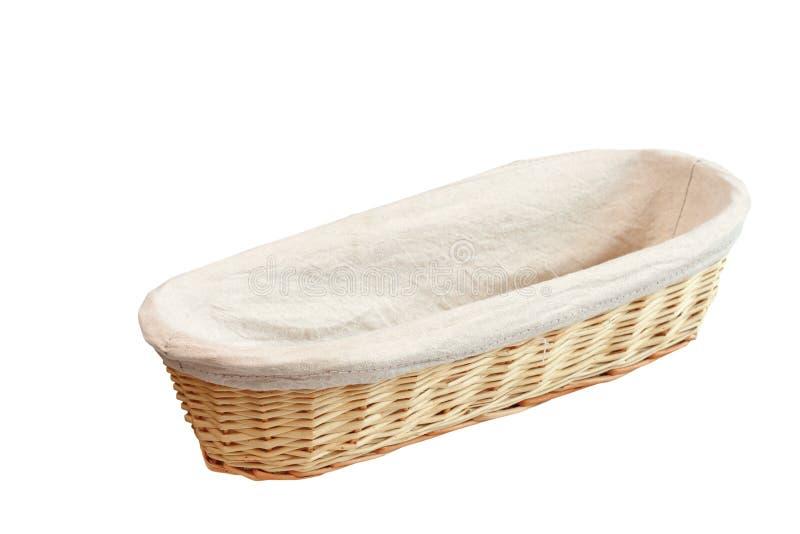 Wood korg för bröd arkivbilder
