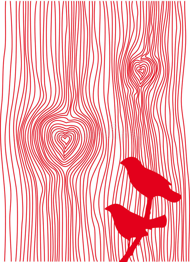 wood kornhjärtor stock illustrationer
