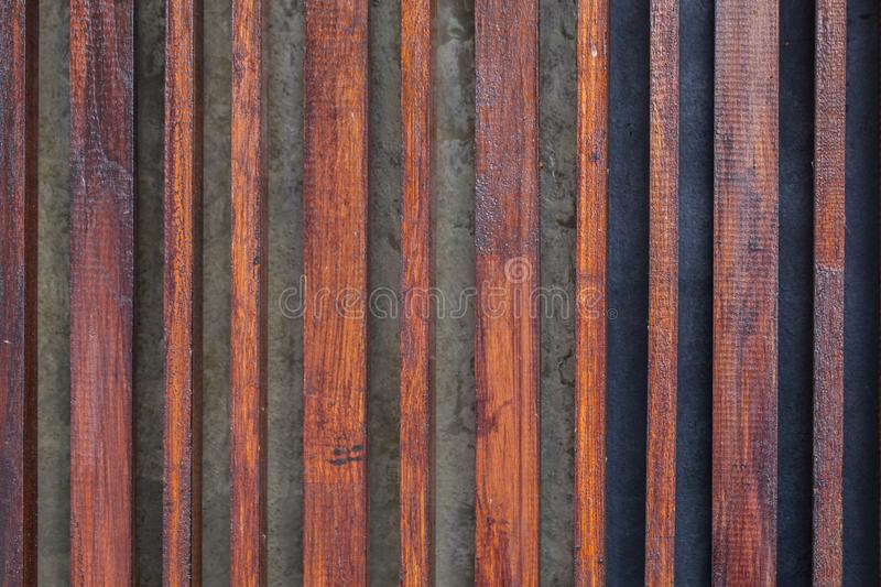 Wood lath line pattern. Dark wood lath line pattern for background royalty free stock photos