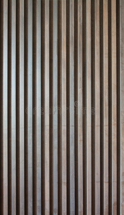 Wood lath wall. Dark wood lath wall background stock photo