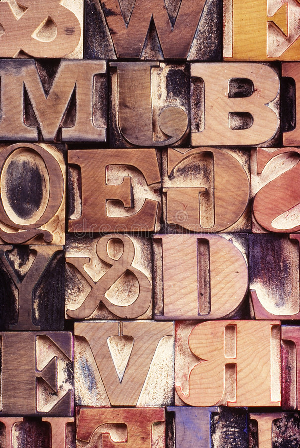 Free Wood Letter Printing Blocks Stock Images - 8293434