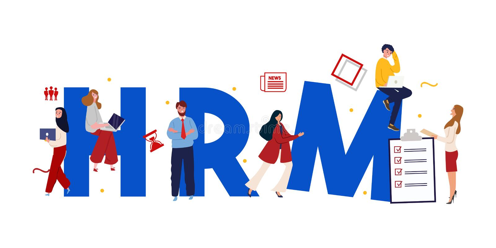 Human Resource Management System Stock Illustration