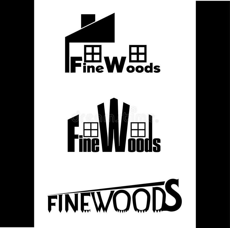 Wood logo royaltyfri bild