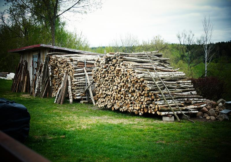 Download Wood logs stock image. Image of load, split, materials - 18698143