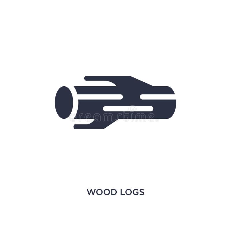 Wood logs icon on white background. Simple element illustration from agriculture farming and gardening concept. Wood logs icon. Simple element illustration from royalty free illustration