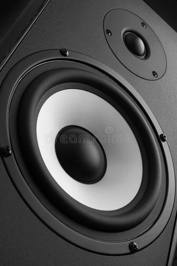 Wood Loud Speakers royalty free stock photography