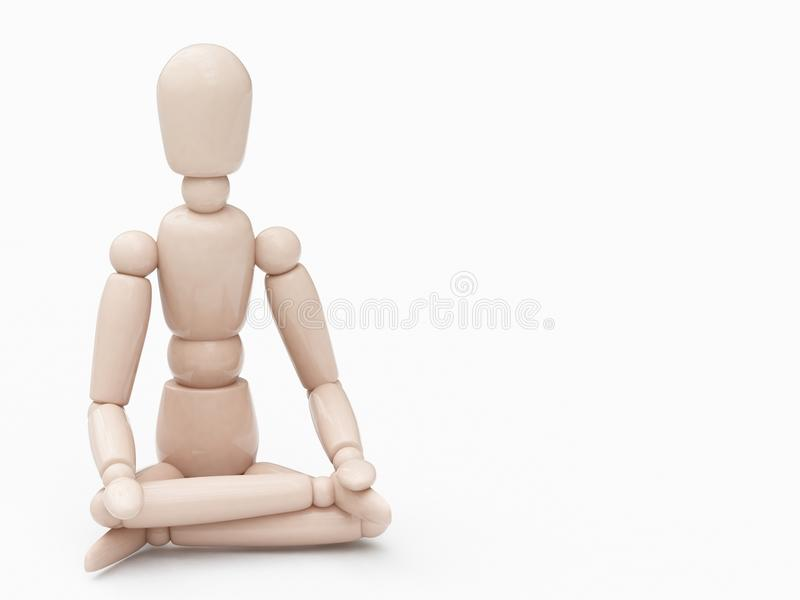Download Wood Man In Lotus Position Royalty Free Stock Images - Image: 11933439
