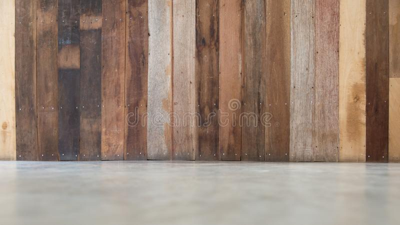 Wood material background for Vintage wallpaper.Wooden table texture in modern house interior royalty free stock image