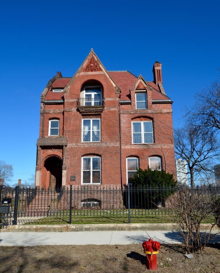 Wood-Maxey-Boyd House. This is a Spring picture of the Wood-Maxey-Boyd House located on the Southside of Chicago, Illinois. This house built in 1885 is an stock photo