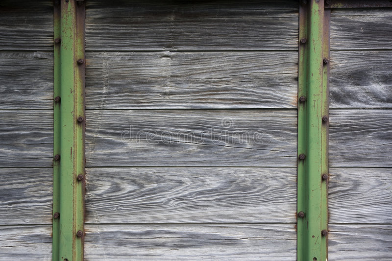 Wood and metal background from old farm machinery royalty free stock image
