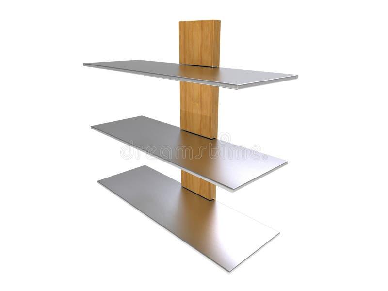 Wood Metal Shelf stock illustration