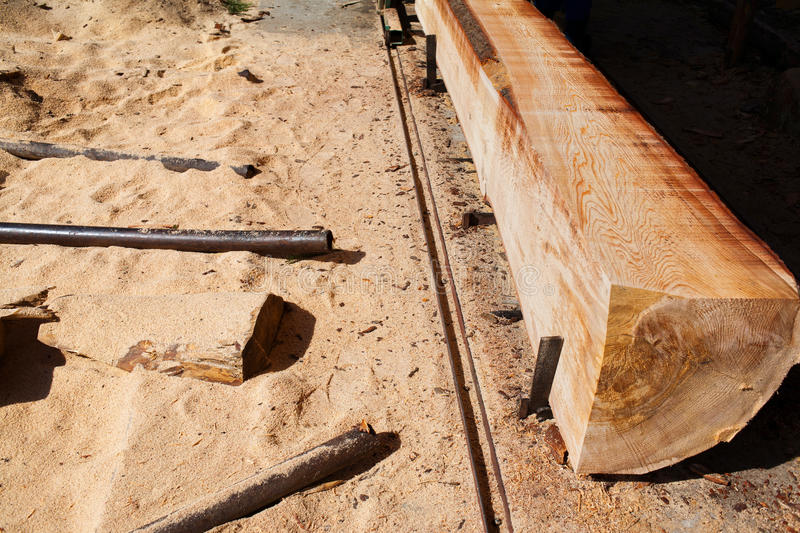 Download Wood mill processing trunk stock photo. Image of brown - 36566184