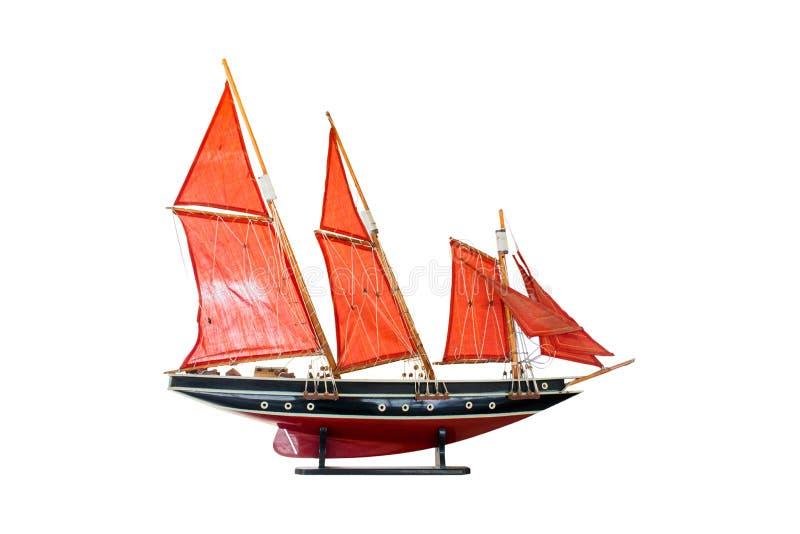 Wood modellbark, en typ av seglingskytteln, asia royaltyfri bild