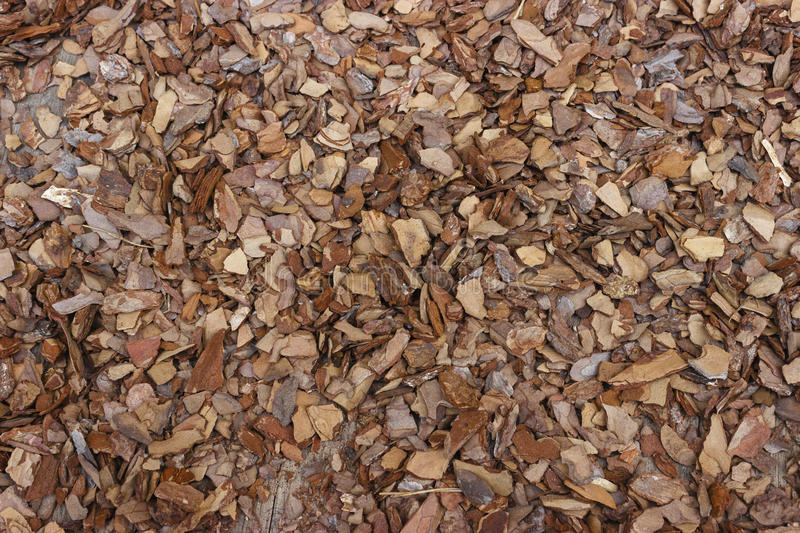 Wood mulch brown royalty free stock photography